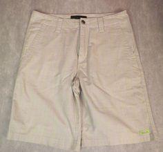 Oakley Beige Flat Front Windowpane Shorts Men's Size 32 EUC #Oakley #Golf