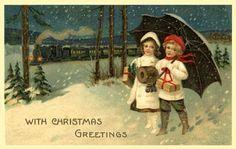 vintage christmas postcards - Google Search