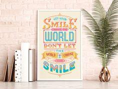 Let your smile change the world- Cross Stitch Pattern (Digital Format - PDF) by Stitchrovia on Etsy