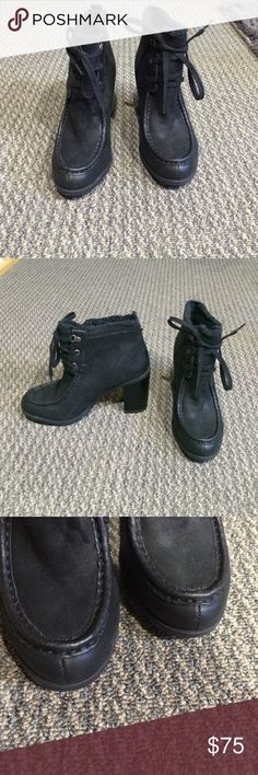 """Sam Edelman. NWT Black leather ankle boots Sam Edelman. NWT. Black leather faux fur lined lace up ankle boots. Heels 4"""". Non slip soles. Sam Edelman Shoes Ankle Boots & Booties"""