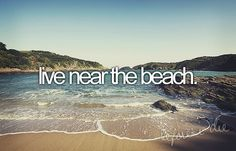 So if I can't own a beach house, the next best thing would be to live beside one:)