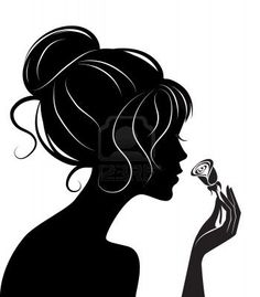 beauty-girl-silhouette-with-rose-vector-illustration