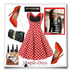 """""""simpledress17"""" by crvenamalina ❤ liked on Polyvore featuring Fendi, Forever 21, vintage and simpledres"""