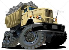 Vector Cartoon Dump Truck #GraphicRiver Available hi-res JPG , AI-10 and EPS vecotr formats separated by groups and layers for easy edit. More cartoon cars and transportation illustrations see in my portfolio. Also you can check at my Collections: Vector Cartoon Cars Vector Cartoon Trucks Detailed Vector Cars modern and retro Detailed Vector Trucks Vans Tractors and Pickups Detailed Vector realistic and cartoon styled Buses Vector aircrafts, airplanes, retro, modern, bluepr...
