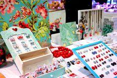 Kokino handmade earrings, Christmas market
