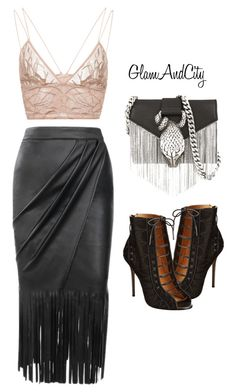 """""""Untitled #87"""" by glamandcity ❤ liked on Polyvore featuring Jonathan Simkhai, L.A.M.B. and Yves Saint Laurent"""