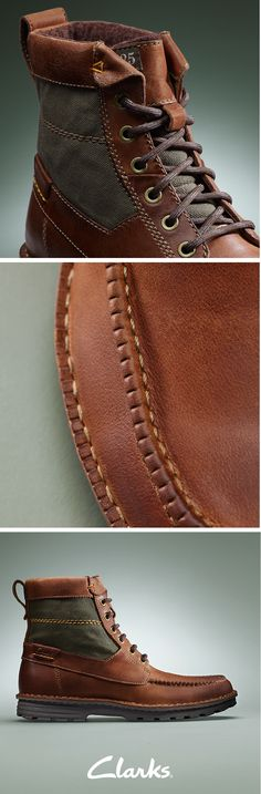 Men will love Clarks Sawtel Hi Leather Boots this fall season. These rugged Polyveldt men's casual boots are on-trend this season with contrasting material panels and fine stitching for a look infused with heritage. Wear them when you head into town no matter the forecast.