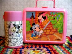 Mickey and Minnie dragon lunchbox! I had this in elementary school! :)