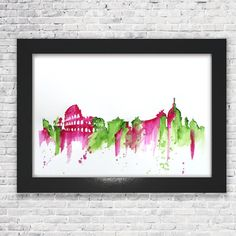 ***** WORLDWIDE FREE SHIPPING *****    Rome is from AlyssaDionas skyline collection  Exclusively limited to 10 prints    Only 10 will be made so once