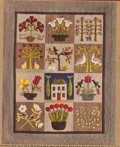 At Home in the Garden - pieced & applique quilt PATTERN - Timeless Traditions • AUD 27.50 - PicClick AU