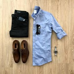Mens outfits - VoTrends® Outfit Ideas for Men ( Big Men Fashion, Mens Fashion Suits, Look Fashion, Trendy Outfits, Fashion Outfits, Outfit Grid, Men Style Tips, Mens Clothing Styles, Men Dress