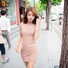 Buy 'chuu – Mock-Neck Elbow-Sleeve Mini Dress' with Free International Shipping at YesStyle.com. Browse and shop for thousands of Asian fashion items from South Korea and more!