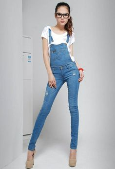 Women's Loosen Denim Jean Straps Jumpsuit Shorts Suspender $10 for ...