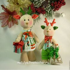 Купить Новогодние олени. 2016 Новый год. - Новый Год, новогодний подарок, новогодний интерьер