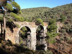 Roman aqueduct at Lambou Mili, Lesvos, Greece Sassanid, Roman Empire, Greek Islands, Countryside, Mount Rushmore, Rome, Greece, Mountains, Cyprus