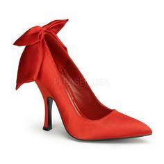 Rosso Raso 12 cm - Scarpe Decollete Tacco Basso Scarpe Rosse c5ec6e4836a
