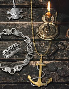 Pirate and Skull designs are intriguing, fashionable, and not just for Halloween! Shop this bewitching collection of themed jewelry styles. Stock up today! #QualityGold #Skulls #SkullJewelry #Halloween #PirateJewelry #PirateCostume
