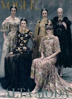 Esther Heesch - Irina Kravchenko - Magdalena Jasek - Vogue Italia Couture Supplement Cover September 2013