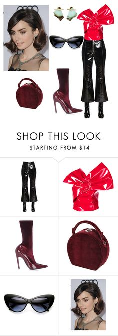 """Untitled #11"" by corina-stanculet ❤ liked on Polyvore featuring E L L E R Y, Seen, Balenciaga, Bertoni, ZeroUV, COS and Kathleen Whitaker"