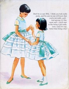 Forced Sissification — Billy's mom thought he was simply too pretty to. Childrens Sewing Patterns, Mccalls Patterns, Vintage Sewing Patterns, Clothing Patterns, Vintage Girls, Vintage Children, Vintage Outfits, Frocks For Girls, Little Girl Dresses