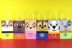 DIY Paw Patrol Favor Bags. Simply Download, Print, Cut and Paste. Print as many copies as you need.