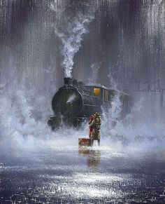 train travel is so glamourous (by Jeff Rowland)