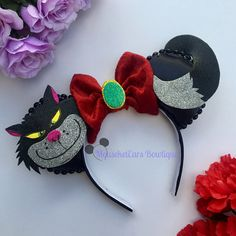 Lucifer Inspired Ears Mini Mouse Ears, Disney Minnie Mouse Ears, Diy Disney Ears, Disney Bows, Mickey Ears Diy, Disney Stuff, Disney Ears Headband, Disney Headbands, Disneyland Ears