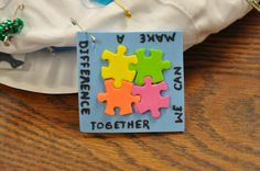 Girl Scout SWAPS ---- make a difference Just a picture- all I need for this one. I wonder where I can buy the mini foam puzzle pieces...