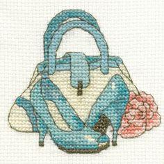 DMC Cross Stitch | Vintage Mini Kit | Handbag and Shoes
