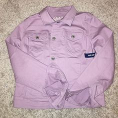Lavender old navy denim jacket Brand new with tags, never worn. Size medium Old Navy Jackets & Coats
