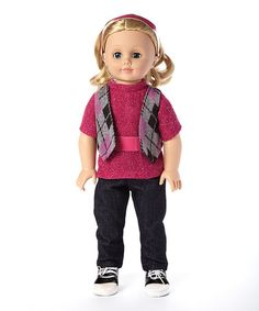 Another great find on #zulily! Light Skin Blue-Eyed Loose Curled-Hair Girl 18'' Doll #zulilyfinds