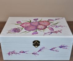 buganvilla y malva cajitas decoradas cajita de madera cajita con flores handmade