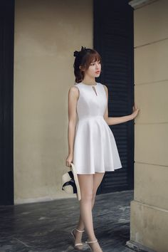 Japanese Fashion - Hollow round neck A word dress - AddOneClothing - 4