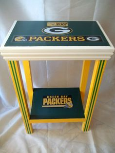 Green Bay Packers Inspired Sports Table End by drSportsCaves