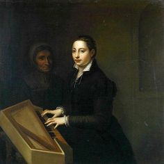 Sofonisba Anguissola (Italian, 1532-1625) Self-Portrait with spinet & attendant. 1561 г. The Trustees of the Goodwood Collection