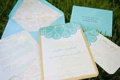 Vintage Lake Wedding Invitation Set by Milk & Ice Cream