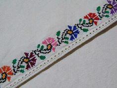 Cross Stitch Art, Cross Stitch Borders, Cross Stitch Embroidery, Palestinian Embroidery, Floral Tie, Crochet, Handmade, Color, Monogram Alphabet
