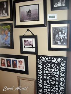 Curb Alert Blog great idea rubber floor mat covers wall vent.  Beautiful!  Be sure to allow plenty of air flow space by bending vents out a little and check with your AC service provider.