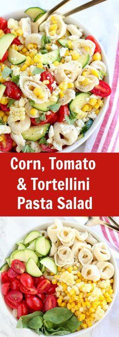 Summer Corn Tomato And Tortellini Pasta Salad