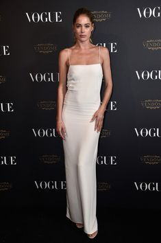 Doutzen Kroes attends the Vogue 95th Anniversary Party on October 3, 2015 in Paris, France.