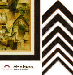Omega's #Chelsea set of #pictureframes is a modern and transitional collection with a style highly coveted in today's market. The collection consists of square profiles exhibiting a rich dark bronze patina, brushed and scratched to reveal fine reflective lines that give warmth and depth to the surface. This evokes an either an antique and age-worn look that works with metal, concrete and stone interior applications. #omegamoulding #customframes #framedesign #framedecor #framemoulding…