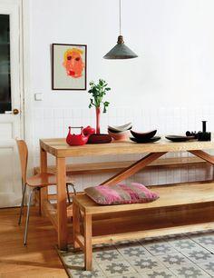 Kitchen bench. En casa de Helena Rohner - Elle.es