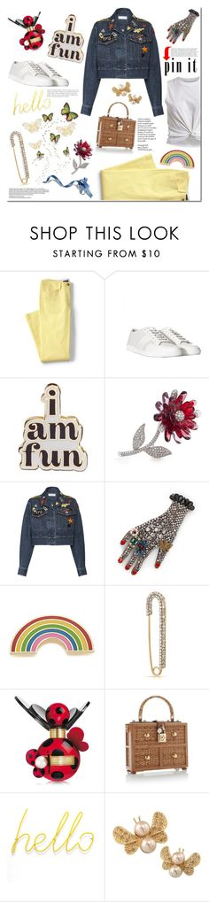 """Pin It!!!!!"" by tatajrj ❤ liked on Polyvore featuring Lands' End, Yves Saint Laurent, ban.do, Carolee, Sonia Rykiel, Gucci, Georgia Perry, Bling Jewelry, Marc Jacobs and Dolce&Gabbana"