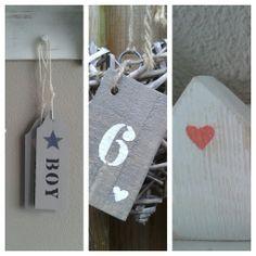 deurhangers, huisnummers en houten huisjes.. www.facebook.com/hippehuisjes