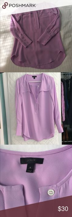 J Crew Top Light purple J Crew tunic top in perfect condition! Looks great with leggings and boots. J. Crew Tops