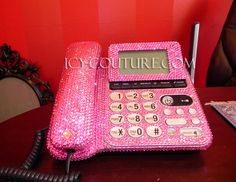 Think pink? :) ICY COUTURE custom Swarovski Crystal Home or Office Desk Phone! Whats Your Color?