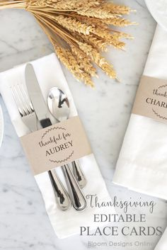 Editable Thanksgivin
