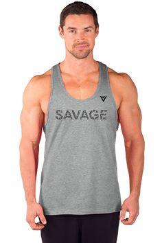 """Men's """"SAVAGE"""" Cotton Stringer Tank"""