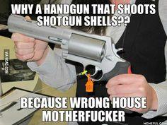 Hellboy's gun!