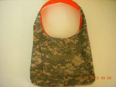 ACU Army Camo and Bright Orange Hobo Boho Style Purse Bag Tote ffd8493e0a